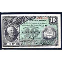 Аргентина 10 центаво 1883 г. (ARGENTINA 10 centavos 1883 g.) P6:XF