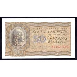 Аргентина 50 центаво ND (1951 - 56 г.)  (ARGENTINA 50 centavos ND (1951 - 56 g.)) P261:Unc