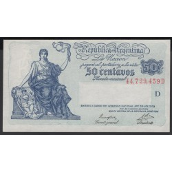 Аргентина 50 центаво ND (1935 г.) (ARGENTINA 5 centavos ND (1935 year)) P250:Unc