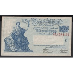 Аргентина 50 центаво ND (1935 г.) (ARGENTINA 5 centavos ND (1935 year)) P250a:XF