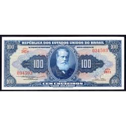 Бразилия 100 крузейро ND (1955-1959) (BRASIL 100 Cruzeiros ND (1955-1959)) P153а:Unc