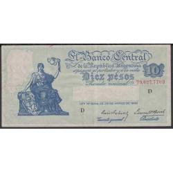 Аргентина 10 песо 1935 г. (ARGENTINA 10 peso 1935 g.) P253:XF