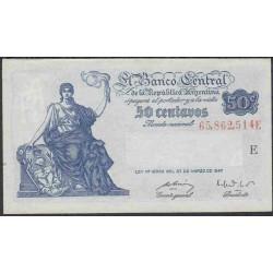 Аргентина 50 центаво 1947 г. (ARGENTINA 50 centavo 1947 g.) P253:Unc
