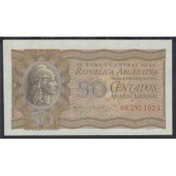 Аргентина 50 центаво 1947 г. (ARGENTINA 50 centavos 1947 year) P259a:Unc