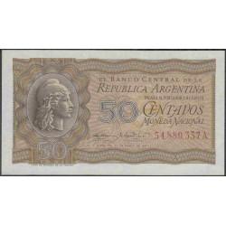 Аргентина 50 центаво 1947 г. (ARGENTINA 50 centavos 1947 year) P259b:Unc