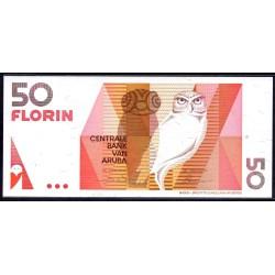 Аруба 50 флорин 1990 г. (ARUBA 50 Florin 1990) P9:Unc