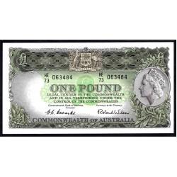 Австралия 1 фунт ND (1953-1960 г.) (AUSTRALIA 1 Pound ND (1953-1960)) P30: aUnc