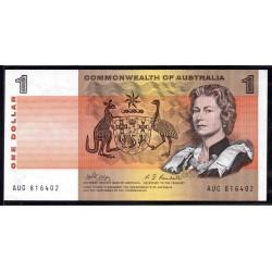 Австралия 1 доллар ND (1966-1972 г.) (AUSTRALIA 1 Dollar ND (1966-1972)) P37с:Unc
