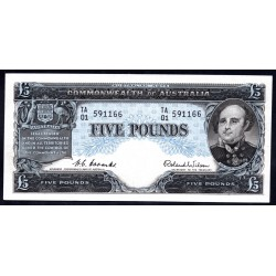 Австралия 5 фунтов ND (1954-1959 г.) (AUSTRALIA 5 Pounds ND (1954-1959)) P31: aUNC-