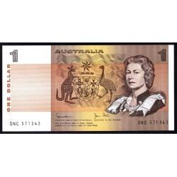 Австралия 1 доллар ND (1974-1983 г.) (AUSTRALIA 1 Dollar ND (1974-1983)) P42d:Unc