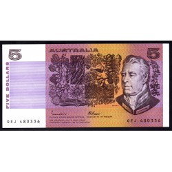 Австралия 5 долларов ND (1974-1991 г.) (AUSTRALIA 5 Dollars ND (1974-1991)) P44е:Unc