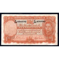 Австралия 10 шиллингов ND (1939-1952 г.) (AUSTRALIA 10 Shillings = ½ Pound ND (1939-1952)) P25a:XF-