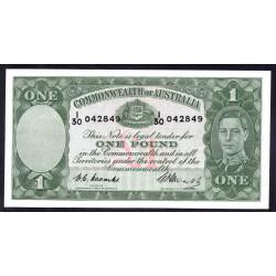 Австралия 1 фунт ND (1938 -1952 г.) (AUSTRALIA 1 Pound ND (1938-1952)) P26с:aUnc