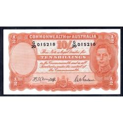 Австралия 10 шиллингов ND (1939-1952 г.) (AUSTRALIA 10 Shillings = ½ Pound ND (1939-1952)) P25b: aUnc