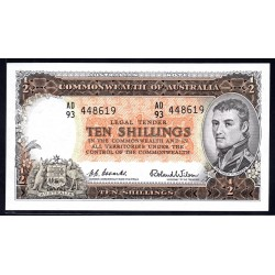 Австралия 10 шиллингов ND (1954-1960 г.) (AUSTRALIA  10 Shillings = ½ Pound ND (1954-1960)) P29:aUnc
