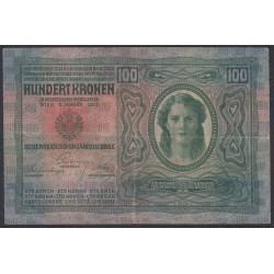 Австрия 100 крон 1912 года (Austria 100 kronen 1912 year) P 12 : Fine/XF