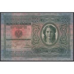 Австрия 100 крон 1912 года (Austria 100 kronen 1912 year) P 12 : XF