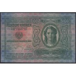 Австрия 100 крон 1912 года (Austria 100 kronen 1912 year) P 12 : UNC
