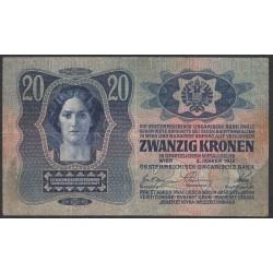Австрия 20 крон 1913 года (Austria 20 kronen 1913 year) P 13 : Fine/XF