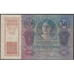 Австрия 50 крон 1914 года (Austria 50 kronen 1914 year) P 15 : UNC-/UNC