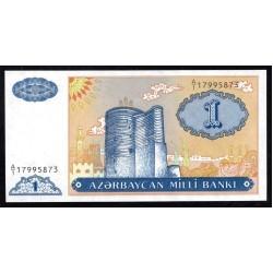 Азербайджан 1 манат ND (1993 г.) (AZERBAIJAN 1 Manat ND (1993)) P14:Unc