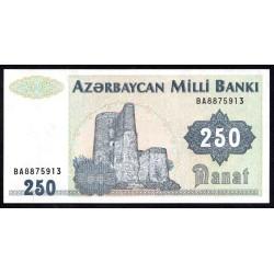 Азербайджан 250 манат ND (1992 г.) (AZERBAIJAN 250 Manat ND (1992)) P13b:Unc