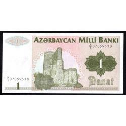 Азербайджан 1 манат ND (1992 г.) (AZERBAIJAN 1 Manat ND (1992)) P11:Unc