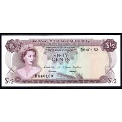Багамские Острова 50 центов 1968 г. (BAHAMAS 50 Cents L. 1968) P26:Unc
