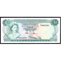 Багамские Острова 1 доллар 1974 г. (BAHAMAS 1 Dollar L. 1974) P35b:Unc