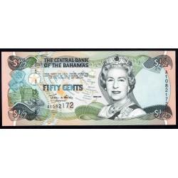 Багамские Острова 50 центов 2001 г. (BAHAMAS 50 Cents 2001) P68:Unc