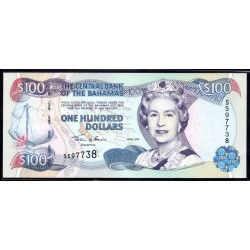 Багамские Острова 100 долларов 2000 г. (BAHAMAS 100 Dollars 2000) P67:Unc