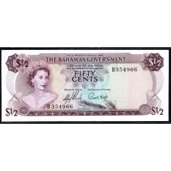 Багамские Острова 50 центов 1965 г. (BAHAMAS 50 Cents L. 1965) P17a:аUnc