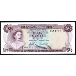 Багамские Острова 50 центов 1965 г. (BAHAMAS 50 Cents L. 1965) P17a:Unc
