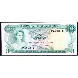 Багамские Острова 1 доллар 1968 г. (BAHAMAS 1 Dollar  L. 1968) P27:Unc