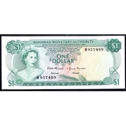 Багамские Острова 1 доллар 1968 г. (BAHAMAS 1 Dollar  L. 1968) P27:аUnc