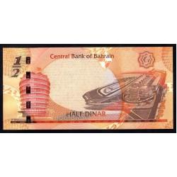 Бахрейн 1/2 динара L. 2006 г. (BAHRAIN ½ Dinar L. 2006 g.) P25:Unc