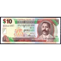 Барбадос 10 долларов 2012 г. (BARBADOS 10 Dollars 2012) P68с:Unc