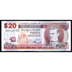 Барбадос 20 долларов 2012 г. (BARBADOS 20 Dollars 2012) P72:Unc