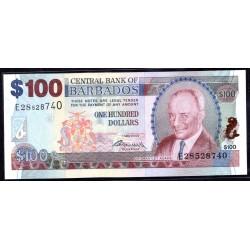 Барбадос 100 долларов 2007 г. (BARBADOS 100 Dollars 2007) P71а:Unc