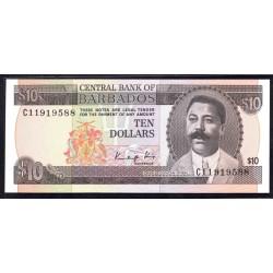 Барбадос 10 долларов ND (1973 г.) (BARBADOS 10 Dollars ND (1973)) P33:Unc