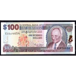 Барбадос 100 долларов ND (2000 г.) (BARBADOS 100 Dollars ND (2000)) P65:Unc