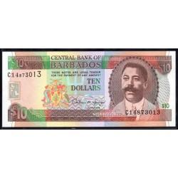 Барбадос 10 долларов ND (1995 г.) (BARBADOS 10 Dollars ND (1995)) P48:Unc
