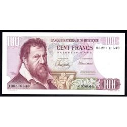 Бельгия 100 франков 1966 г. (BELGIUM 100 Francs / Frank 1966) P134b:Unc