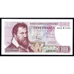 Бельгия 100 франков 1974 г. (BELGIUM 100 Francs / Frank 1974) P134b:Unc