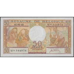 Бельгия 50 франков 1948 г. (Belgium 50 Franks 1948 year) P133a:Unc
