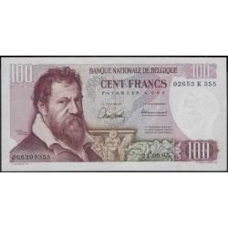 Бельгия 100 франков 1965 г. (Belgium 100 Francs 1965 year) P134a:Unc