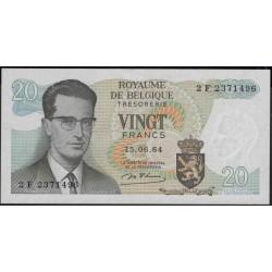 Бельгия 20 франков 1964 г. (Belgium 20 Francs 1964 year) P138:Unc