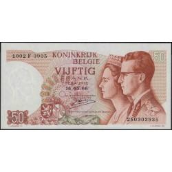 Бельгия 50 франков 1966 г. (Belgium 50 Francs 1966 year) P139:Unc