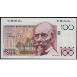 Бельгия 100 франков б/д (1982-1994 г.) (BELGIUM 100 Francs / Frank ND (1982-1994 year)) P142a(1):Unc