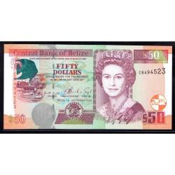 Белиз 50 долларов 2000 г. (BELIZE 50 dollars 2000 g.) P64b:Unc
